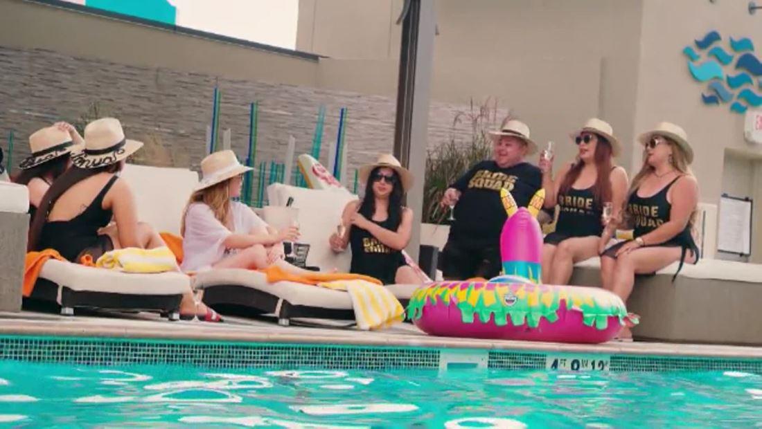 Bachelorette's pool time