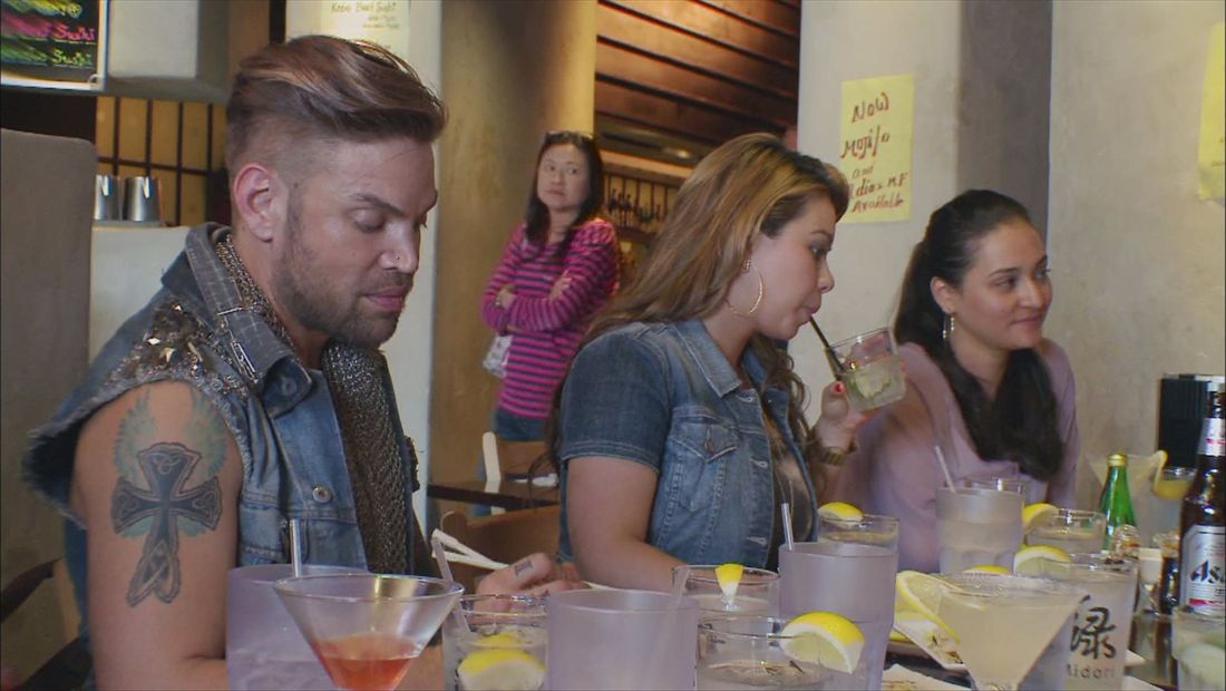 Chiquis does happy hour to meet her salon staff