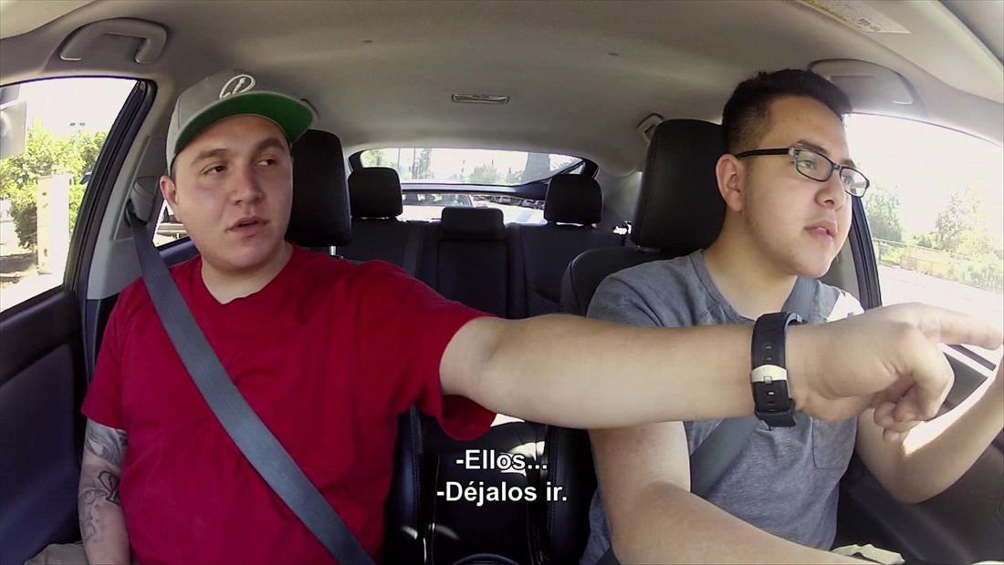 Mikey teaches Johnny how to drive