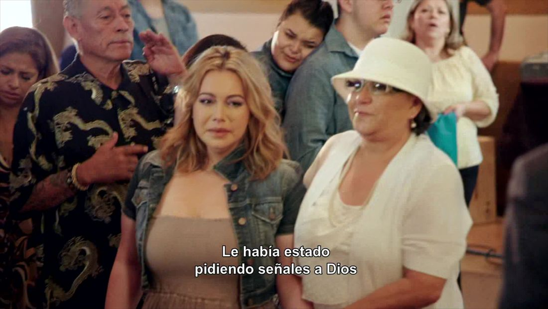 Chiquis breaks down at church