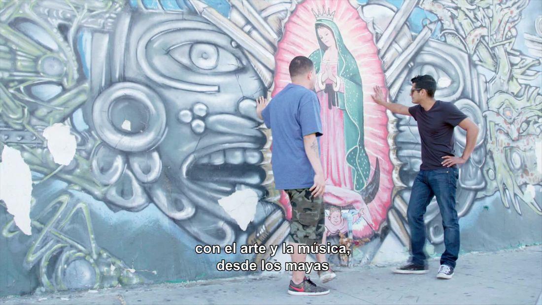 Mikey hangs in Mural Mile